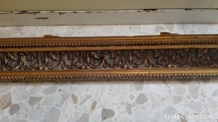 Coleccionismo: marco dorado-madera - Foto 5 - 157918874