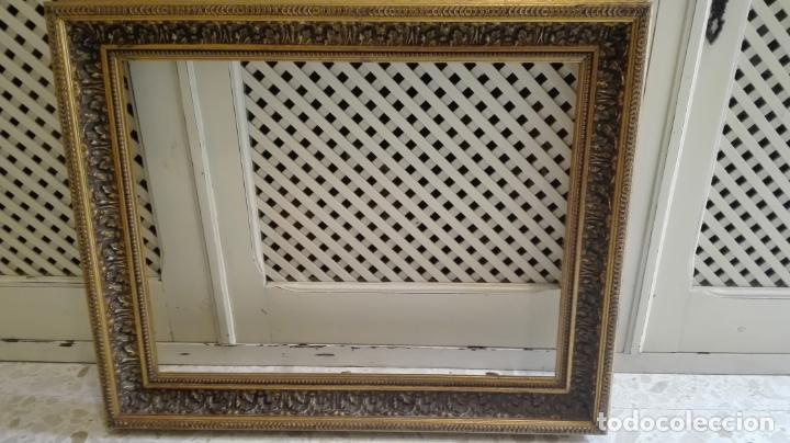 Coleccionismo: marco dorado-madera - Foto 6 - 157918874