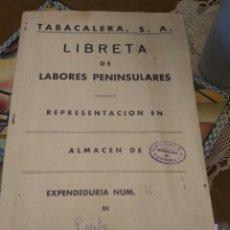 Coleccionismo: TABACALERA ALMERÍA LIBRETA PRECIOS AÑO 1970. Lote 157937284