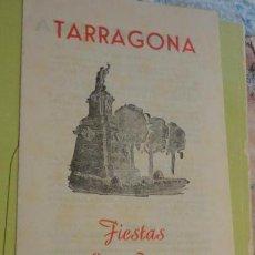 Coleccionismo: PROGRAMA FIESTAS SAN MAGIN TARRAGONA 1960. Lote 158169078