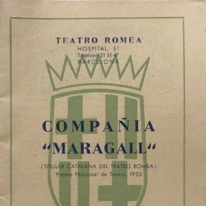 Teatro Romea. Compañía Maragall 11,9x16,8 cm