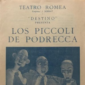 Teatro Romea. Los Piccoli de Podrecca 16x21,8cm