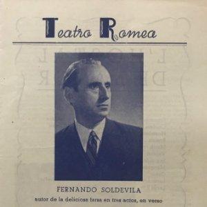 Teatro Romea. L'Hostal de l'Amor. Fernando Soldevila 14x21,1cm