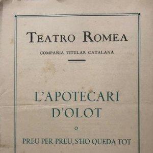 1953 Teatro Romea. L'apotecari d'Olot 16x22,2cm