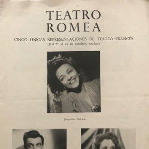 Teatro Romea. Jacqueline Delubac. Paul Cambo. Jacqueline Gauthier 17x24 cm