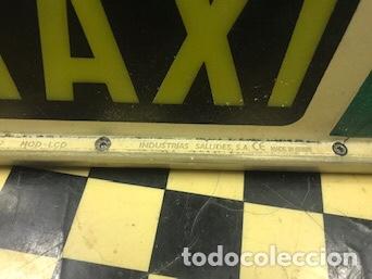 Coleccionismo: Luminoso Taxi antiguo - Foto 4 - 158330709