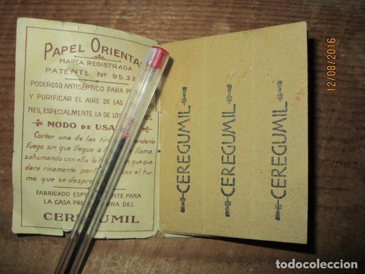 Coleccionismo: PERFUME CEREGUMIL MALAGA PAPEL ORIENTAL PARA CURA DE ENFERMOS COMPLETO - Foto 4 - 158761486