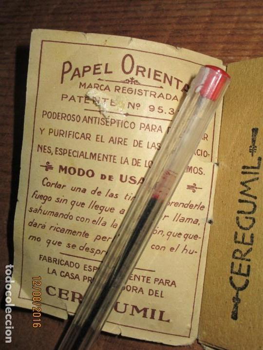 Coleccionismo: PERFUME CEREGUMIL MALAGA PAPEL ORIENTAL PARA CURA DE ENFERMOS COMPLETO - Foto 3 - 158761486