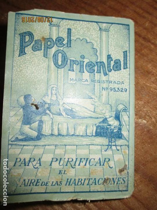 PERFUME CEREGUMIL MALAGA PAPEL ORIENTAL PARA CURA DE ENFERMOS COMPLETO (Coleccionismo - Varios)