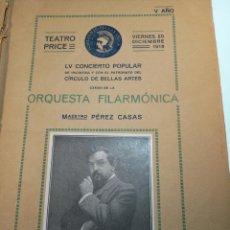 Coleccionismo: EXTRAORDINARIA COLECCIÓN DE UNOS 30 PROGRAMAS DEL TEATRO PRICE, TEATRO DEL CENTRO Y DE LA COMEDIA.. Lote 158904758