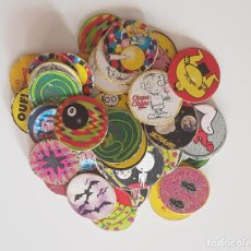 Coleccionismo: LOTE DE TAZOS AÑOS 90 - CHUPA CAPS CHUPA CHUPS. Lote 159012710