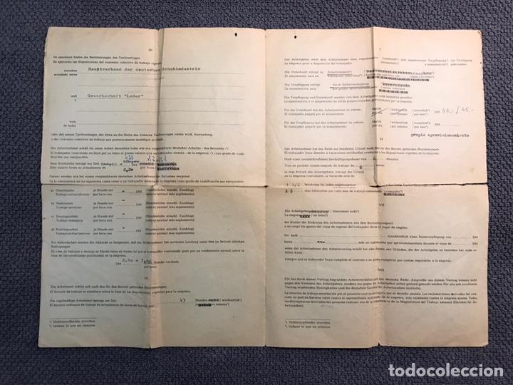 Coleccionismo: DOCUMENTO ALEMÁN. Curioso contrato de trabajo de cuando los españoles emigrábamos a Europa (a.1963) - Foto 2 - 159059372