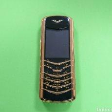 Coleccionismo: TELÉFONO MOBIL VERTU ORO 18K. Lote 159155810