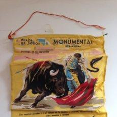 Coleccionismo: CARTEL TAURINO PLAZA DE TOROS MONUMENTAL BARCELONA, ANTONIO ORDOÑEZ 1957. Lote 159158140