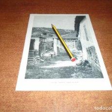Coleccionismo - LÁMINA 1971: CALLEJUELA EN SOBRADO DE TRIVES Y MANZANEDA (OURENSE) GALICIA. - 159164326
