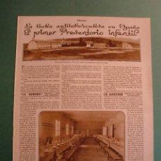 Coleccionismo: PRIMER PREVENTORIO INFANTIL ANTITUBERCULOSO EN SAN RAFAEL SEGOVIA - 09/07/1929. Lote 195177720