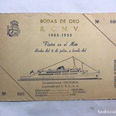 Coleccionismo: VALENCIA. INVITACIÓN CON MOTIVO DE LAS BODAS DE ORO DEL REAL CLUB NÁUTICO (A.1953). Lote 159454434