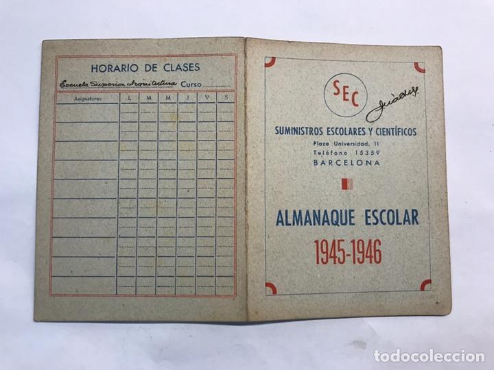 Coleccionismo: BARCELONA. Lote de 4 Almanaques Escolares de 1945 a 1949 - Foto 2 - 159454654
