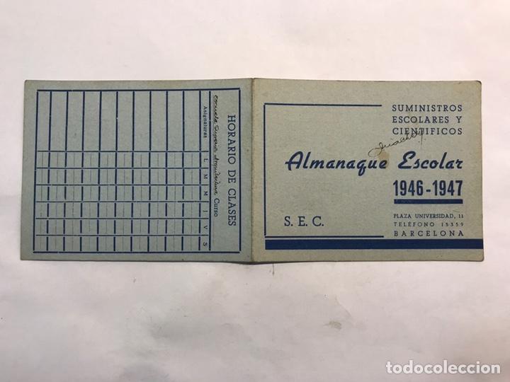 Coleccionismo: BARCELONA. Lote de 4 Almanaques Escolares de 1945 a 1949 - Foto 4 - 159454654