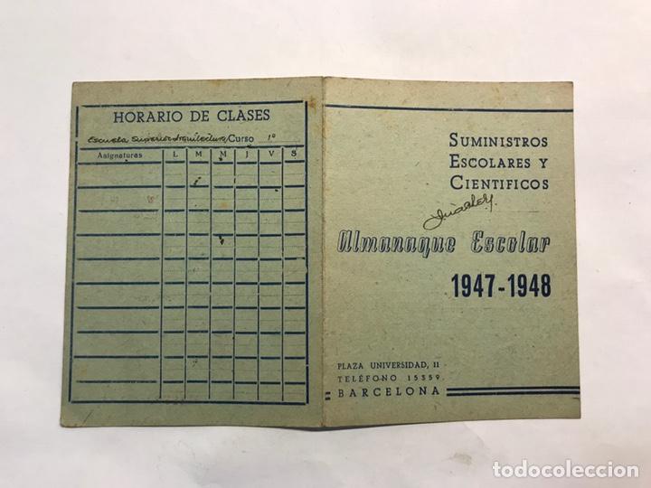 Coleccionismo: BARCELONA. Lote de 4 Almanaques Escolares de 1945 a 1949 - Foto 6 - 159454654