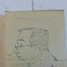 Coleccionismo: ILUSTRACION ORIGINAL DIBUJO RETRATO LÁMINA DE JASB. Lote 159498390