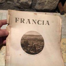 Coleccionismo: ANTIGUO FOLLETO TURISTICO DE FRANCIA AÑOS 20-30. Lote 159588850