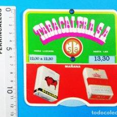 Coleccionismo: RELOJ CONTROL HORARIO ESTACIONAMIENTO PUBLICIDAD DE TABACALERA 1969, BISONTE, UN X-2 CELTAS DUCADOS. Lote 159732446