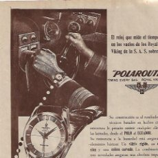 Coleccionismo: AÑO 1955 RECORTE PRENSA PUBLICIDAD RELOJ POLAROUTER UNIVERSAL GENEVE. Lote 159737022