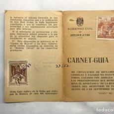 Coleccionismo: ONDA (CASTELLÓN) CARNET GUÍA DE CIRCULACIÓN DE RECLAMOS CIMBELES Y PÁJAROS ...(A.1970). Lote 159768709