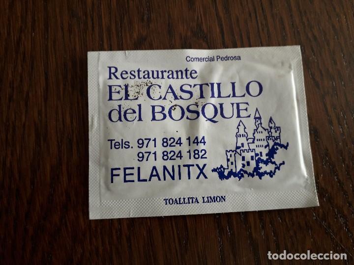 Toallita Refrescante De Publicidad Restaurante Comprar En Todocoleccion 159772938