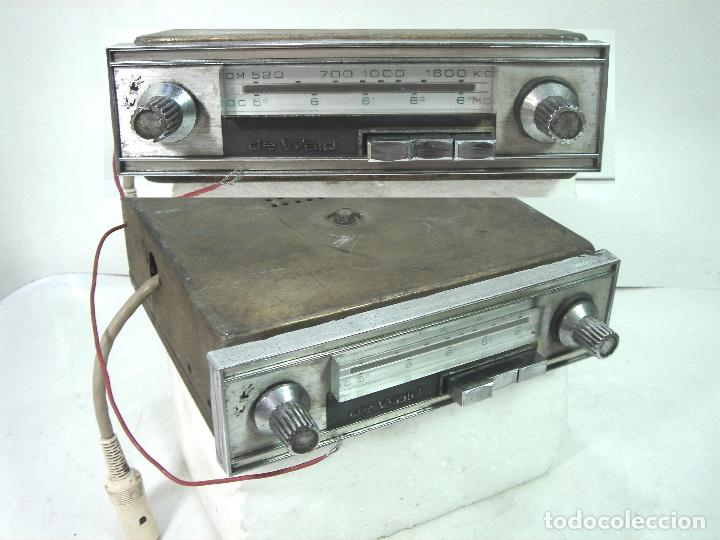 AUTO RADIO CLASICO -DE WALD 3000 -AUTORADIO-SPAIN 1969-DEWALD CASSETTE-COCHE CLASICO-AUTO (Coleccionismo - Varios)