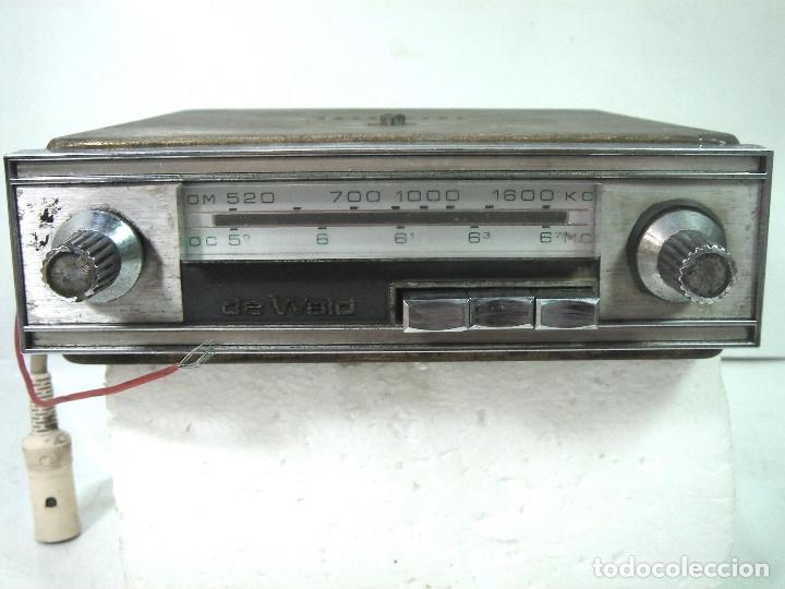 Coleccionismo: AUTO RADIO CLASICO -DE WALD 3000 -AUTORADIO-SPAIN 1969-DEWALD CASSETTE-COCHE CLASICO-AUTO - Foto 3 - 159786934