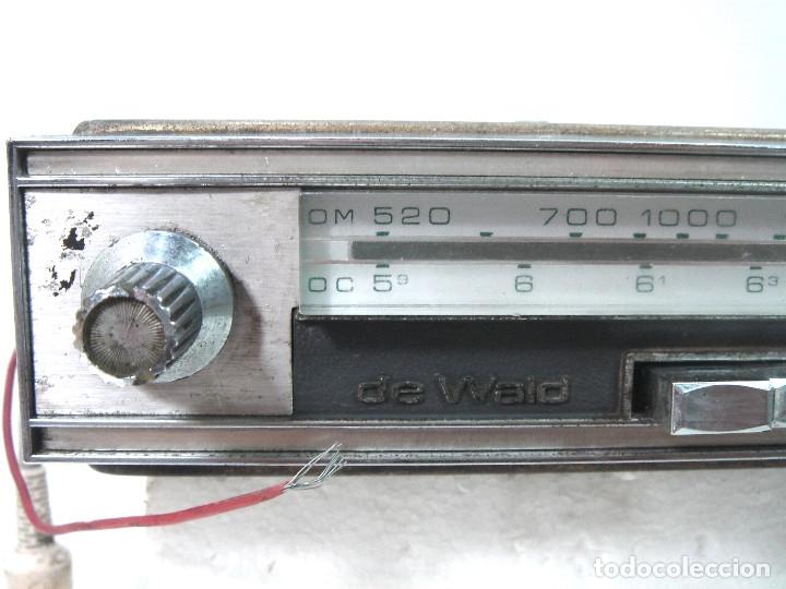 Coleccionismo: AUTO RADIO CLASICO -DE WALD 3000 -AUTORADIO-SPAIN 1969-DEWALD CASSETTE-COCHE CLASICO-AUTO - Foto 4 - 159786934