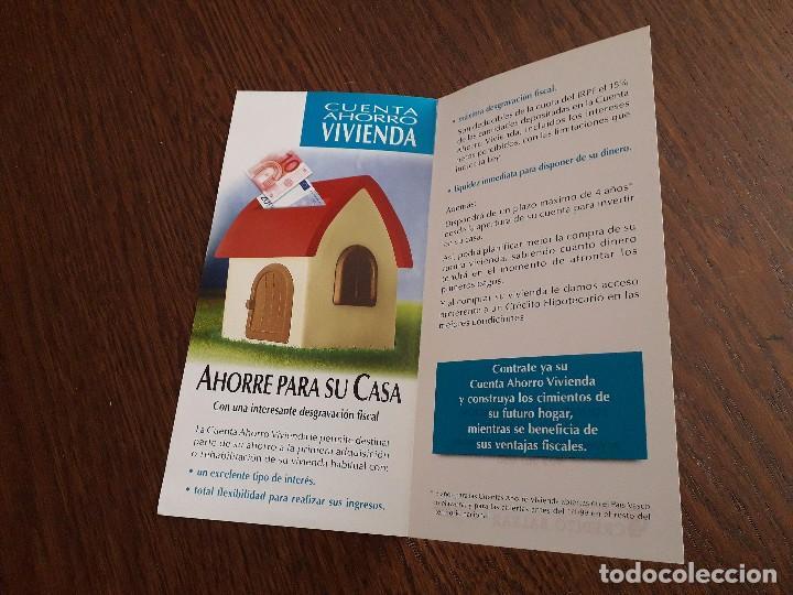 Coleccionismo: folleto de publicidad banco de crédito balear, cuenta ahorro vivienda. - Foto 2 - 159798098