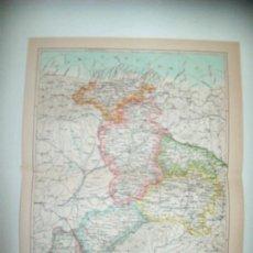 Coleccionismo: LAMINA ESPASA 32379: MAPA DE CASTILLA Y LEON. Lote 159807977