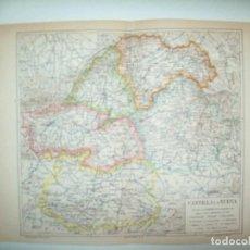 Coleccionismo: LAMINA ESPASA 32377: MAPA DE CASTILLA LA MANCHA. Lote 159808012