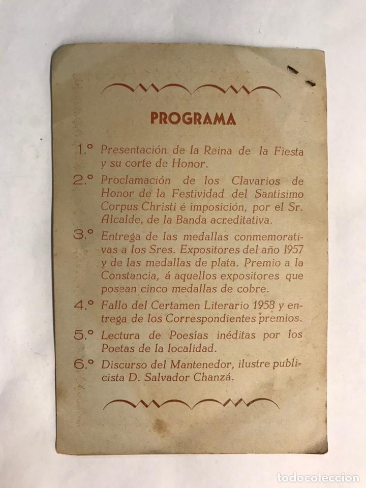 Coleccionismo: BENETUSER (Valencia) Invitación del M.I. Ayuntamiento con motivo de las Fiestas del Corpus Christi - Foto 2 - 159908660