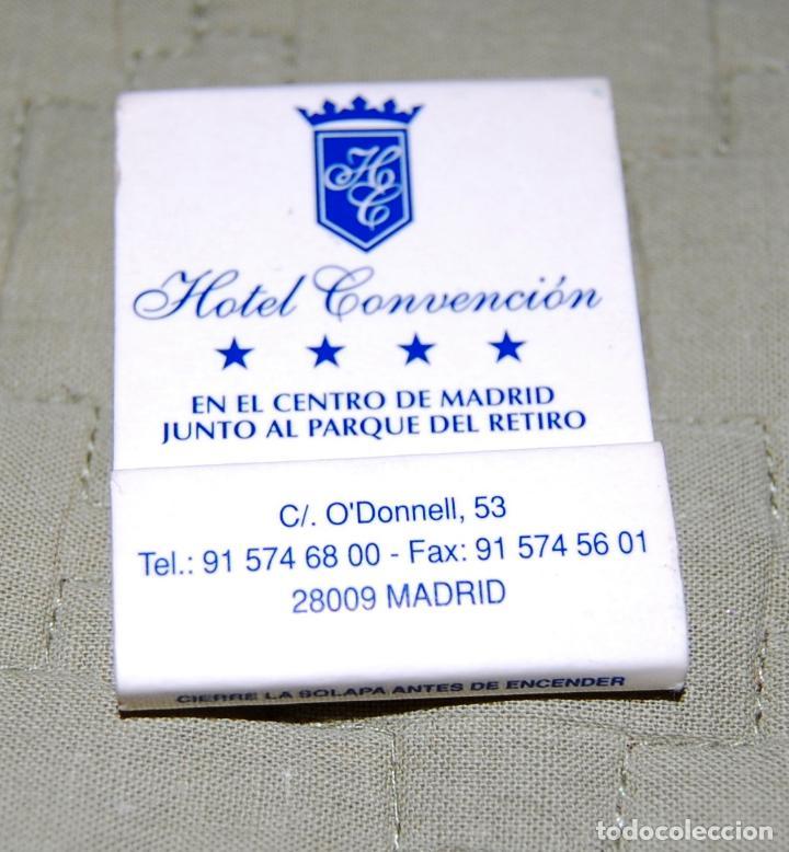 CAJA DE CERILLAS DEL HOTEL CONVENCIÓN DE MADRID. (Coleccionismo - Objetos para Fumar - Otros)