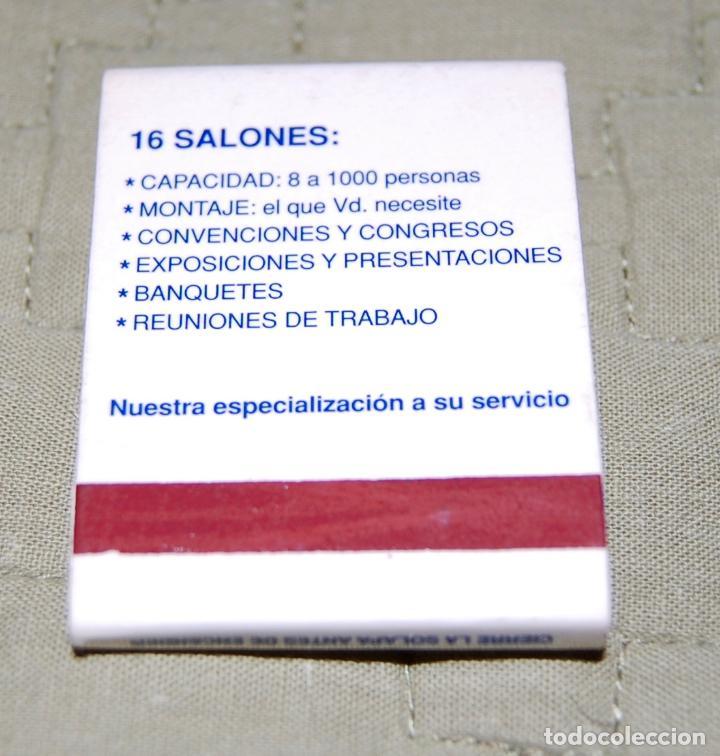 Coleccionismo: Caja de cerillas del Hotel Convención de Madrid. - Foto 2 - 159954262