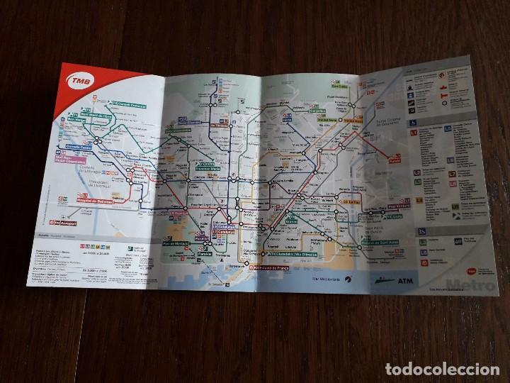 Folleto Mapa Guia Metro De Barcelona Tmb Trans Buy Old Sheets