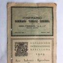 Coleccionismo: ITINERARIO BARCELONA TARRASA SABADELL. GUÍAS ITINERARIOS AGIF (A.1929). Lote 160164709