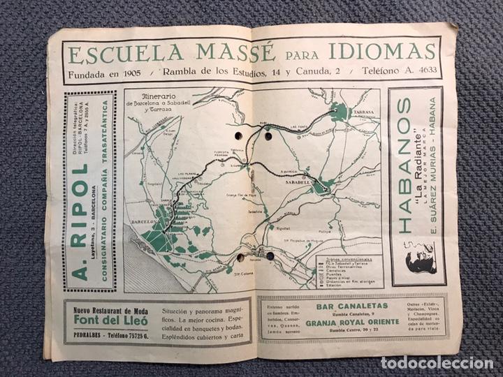 Coleccionismo: ITINERARIO Barcelona Tarrasa Sabadell. Guías itinerarios AGIF (a.1929) - Foto 2 - 160164709