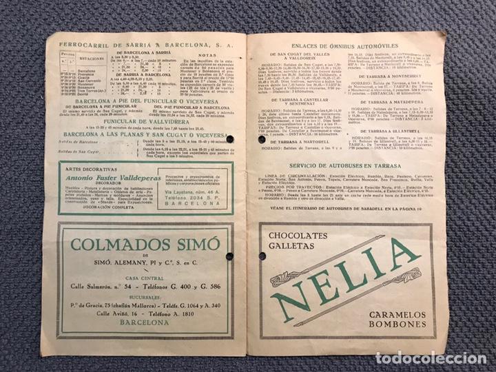 Coleccionismo: ITINERARIO Barcelona Tarrasa Sabadell. Guías itinerarios AGIF (a.1929) - Foto 4 - 160164709