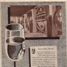 Coleccionismo: AÑO 1955 RECORTE PRENSA PUBLICIDAD BEBIDAS BODEGAS GONZALEZ BYASS. Lote 160185046