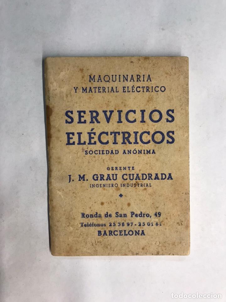 BARCELONA. LIBRITO MAQUINARIA Y MATERIAL ELÉCTRICO TEM INTERRUPTORES Y CONMUTADORES (H.1950?) (Coleccionismo - Laminas, Programas y Otros Documentos)
