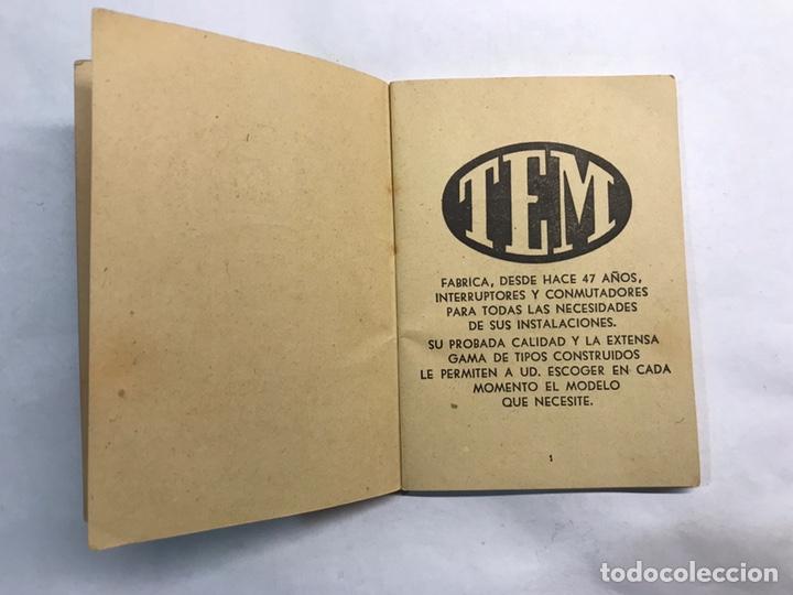 Coleccionismo: BARCELONA. Librito Maquinaria y Material eléctrico TEM interruptores y Conmutadores (h.1950?) - Foto 3 - 160198864