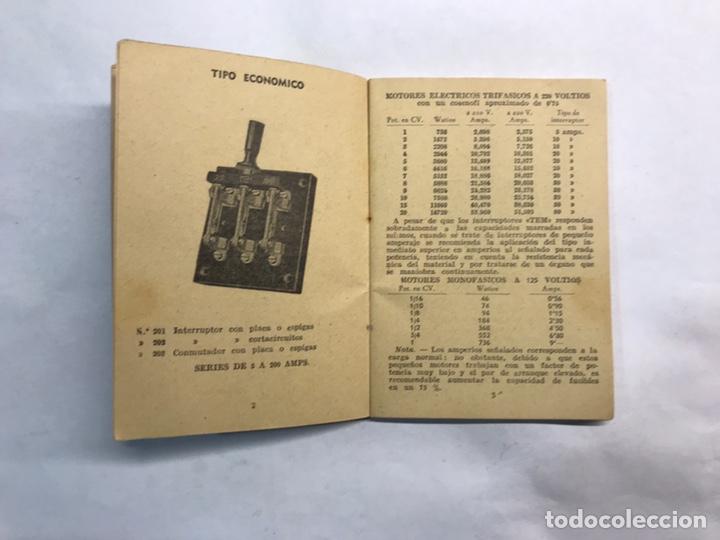 Coleccionismo: BARCELONA. Librito Maquinaria y Material eléctrico TEM interruptores y Conmutadores (h.1950?) - Foto 4 - 160198864