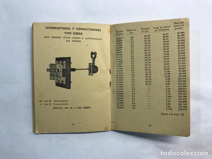 Coleccionismo: BARCELONA. Librito Maquinaria y Material eléctrico TEM interruptores y Conmutadores (h.1950?) - Foto 5 - 160198864