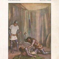 Coleccionismo: LAMINA 13778: ASESINATO DE PEDRO I DE CASTILLA EL CRUEL. Lote 160293838
