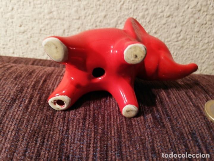 Coleccionismo: Figura ceramica de elefante - Foto 6 - 80281549